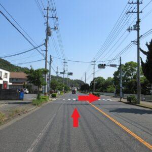 福田 第二駐車場 入口倉敷方面