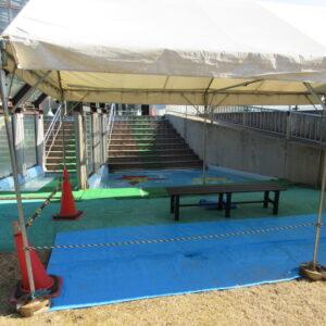 福田公園プール滑り台休憩所