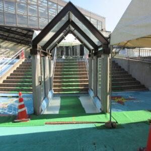 福田公園プール滑り台階段