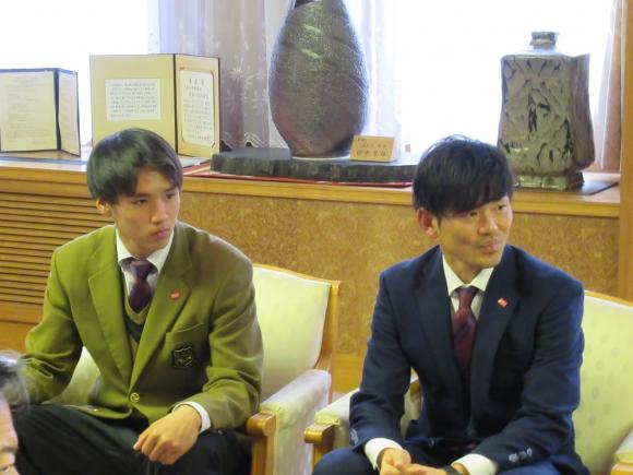 写真左:山田 恭也 選手,写真右:上田 康太 選手